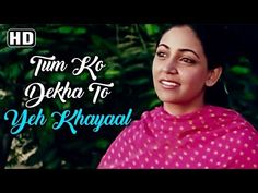 Tum Ko Dekha Toh Ye Khayal - Jagjit Singh Ghazals (HD)- Deepti Naval - Farooq sheikh - Saath Saath - YouTube Hindi Old Songs, Hindi Movie Song, Movie Songs, Movies, Love Songs Lyrics, Songs To Sing, Forever Song, Female Songs, Jagjit Singh