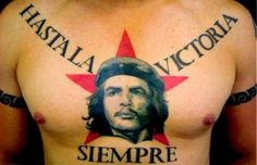 Che Guevara with red star tattoo