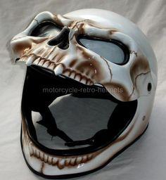Skull Skeleton Visor 3D Airbrush Ghost Fullface Motorcycle Helmet  $54.99