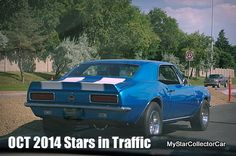 October 2014 Stars in Traffic-25 classic rides on the street.Follow this link: http://www.mystarcollectorcar.com/3-the-stars/stars-in-traffic/2454-october-2014-mscc-stars-in-traffic-after-this-month-they-get-locked-away.html