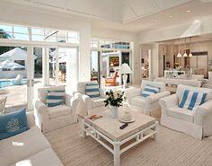 Cabana Stripe Pillows... http://beachblissliving.com/blue-cabana-stripe-beach-decor/