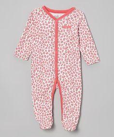 Another great find on #zulily! Calvin Klein Underwear Red & Gray Leopard Footie by Calvin Klein Underwear #zulilyfinds
