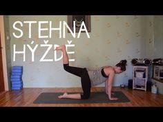 JÓGA | Cviky na pevná stehna a hýždě - YouTube