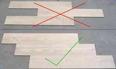 Image result for how to lay 12x24 tiles in the master shower