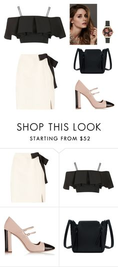 """""""Untitled #129"""" by raaaaa ❤ liked on Polyvore featuring Lanvin, Topshop, Miu Miu, Olivia Burton, Beauty Secrets, Spring, outfit, chic and spring2016"""