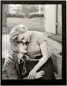Man Ray: Nusch Éluard and Sonia Mossé, Paris, 1935. Great to see the uncropped version of this famous photo