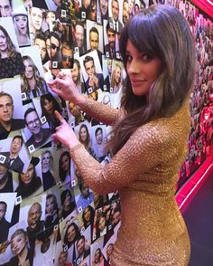 Lea Michele backstage at The Late Late Show with James Corden