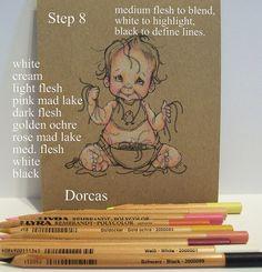 Dorcas Designs: Coloring Skin on Kraft with Lyra Rembrant Pencils...FANTASTIC TUTORIAL!