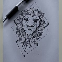 ideas tattoo geometric lion for 2019 Kunst Tattoos, Leo Tattoos, Animal Tattoos, Future Tattoos, Body Art Tattoos, Sleeve Tattoos, Tatoos, Horse Tattoos, Tattoo Sketches