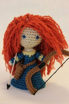 Disney's BRAVE Princess Merida Amigurumi Doll - I may actually cave and buy the pattern for this one.