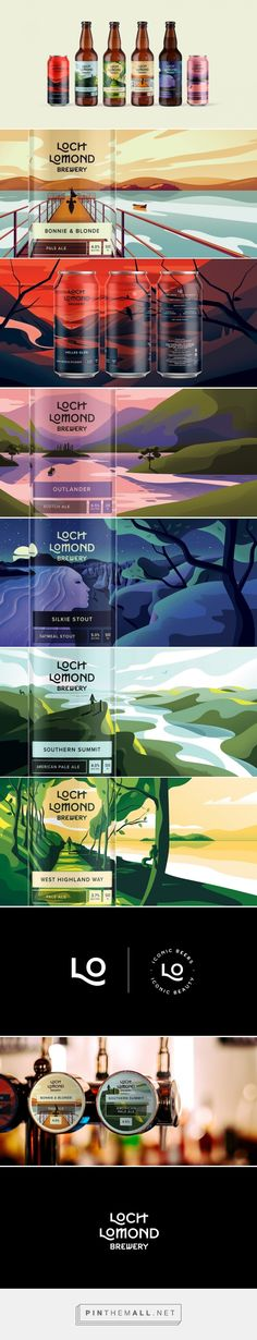 Loch Lomond Brewery - Classic Range packaging design by Thirst - https://www.packagingoftheworld.com/2018/03/loch-lomond-brewery-classic-range.html