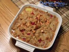 This looks great I think I will try and make it.  Caramel Apple and Cranberry Crisp Recipe from Damariscotta River Grill and Anchor Inn's Pastry Chef Kathleen Chisholm.