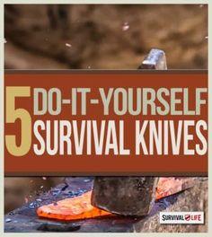 Knife Making Tutorials for Survivalists | Survival Knife Reviews & Tips for Prepper Supplies - Survival Life Blog: survivallife.com #survivallife #survivalgear #diy