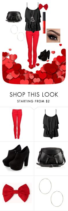 """""""Valentines Day outfit"""" by fiat-justitia ❤ liked on Polyvore featuring St Martins, Christian Louboutin, Forever 21, 2b bebe and NARS Cosmetics"""