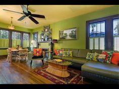 The Birdhouse Bungalow Vacation Rental Home Lido Beach, Hardwood Floors, Flooring, Sash Windows, Old Florida, Plaster Walls, Updated Kitchen, Tropical Garden, Sitting Area