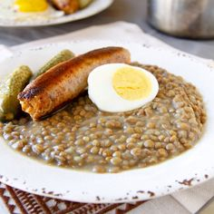 Czech Recipes, Sausage, Healthy Lifestyle, Oatmeal, Food And Drink, Breakfast, Per Diem, Morning Coffee, Sausages