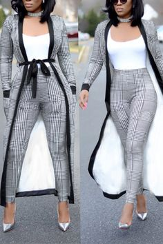 Material: Cotton Blends Style: Casual Pattern Type: Print Sleeve Length: Long Sleeve Suit Type: Long Pants (Without T-shirt Classy Dress, Classy Outfits, Chic Outfits, Fashion Outfits, Classy Chic, Dress Outfits, Dress Casual, Summer Outfits, Formal Outfits