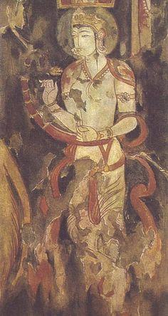 Harpist, Sogdian Mural, Piandjikent ( c. Ancient Indian Paintings, Ancient Art, Mural Painting, Mural Art, Tempera, Fresco, John Everett Millais, Iranian Art, India Art