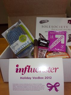 This is my first Holiday VoxBox 12' from Influenster. I received these products complimentary for testing purposes from Influenster. @Influenster
