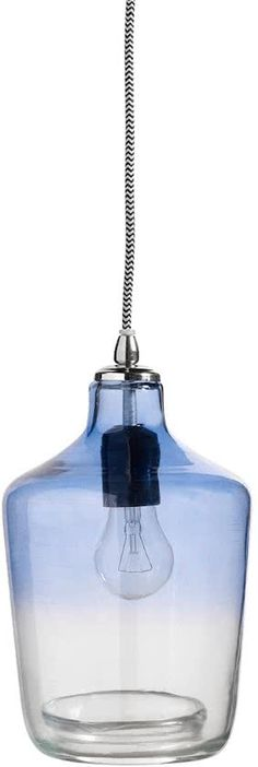 Hanglamp Bubble Glass blue