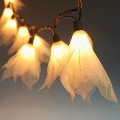 9Ft Tropical Flower Lights Decor- 110V AC String Lights- Natural White