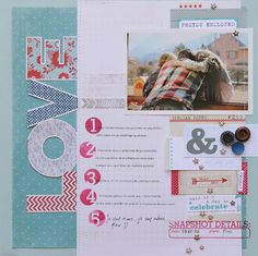 """Sophie Crespy """"LOVE"""" i like the numbering for the journaling and the """"photos enclosed"""" file tab"""