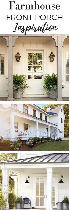 New Farmhouse Porch Columns Curb Appeal Ideas Farmhouse House, House Design, Farmhouse Remodel, Farmhouse Front, Porch Posts, Exterior Design, Porch Railing, Farmhouse Style, House Exterior