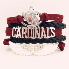 NFL Arizona Cardinals Football Team Bracelet