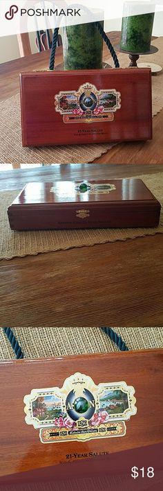 Original cigar box handbag Original handmade cigar box handbag. Made from an actual cigar box. Gold lock added with teal rope handle and gold accents. Super cute and original. Bags