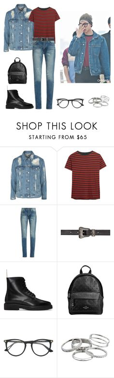 """BTS - Kim Namjoon"" by nailya-s ❤ liked on Polyvore featuring Topshop, R13, Yves Saint Laurent, Common Projects, Coach, Gucci, Kendra Scott, kpop, bts and rapmonster"
