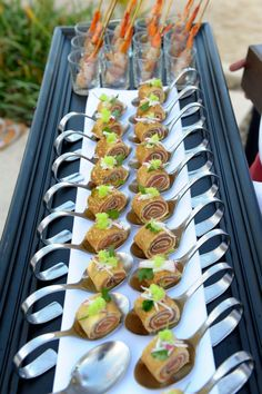 Finger food for canapes