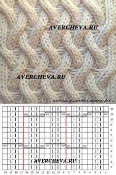 Узор спицами 971 « Необычная плетенка»