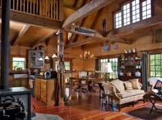 Log Cabin Interior Photo Gallery | 2013. Hochstetler Milling, Ltd. All  Rights Reserved