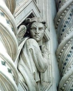 Florence - Duomo, angel. The stare almost penetrates
