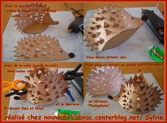 """Képtalálat a következőre: """"hedgehog for kids"""" Cute Crafts, Diy Crafts For Kids, Arts And Crafts, Autumn Crafts, Autumn Art, Autumn Activities, Activities For Kids, Hedgehog Craft, Preschool Christmas Crafts"""