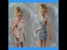 Платье для Барби с открытой спинкой. Мастер-класс. - YouTube