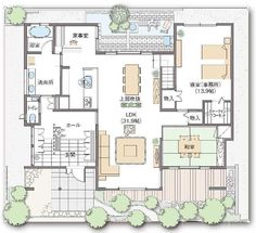 Japanese Tea House, House Floor Plans, Bungalow, Sweet Home, Layout, House Design, Flooring, How To Plan, Interior Design
