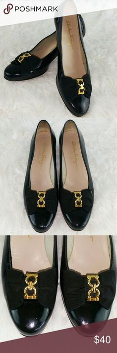 💞SALE💞 Salvador Ferragamo Black Italian Leather Salvador Ferragamo Black Leather Dress Shoes Salvatore Ferragamo Shoes