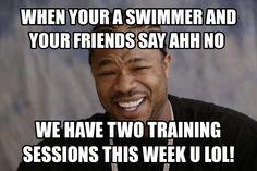 Swimming meme