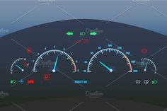 Car dashboard illustration by hlivnyk on @creativemarket