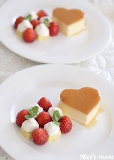 プリンアラモード caramel pudding