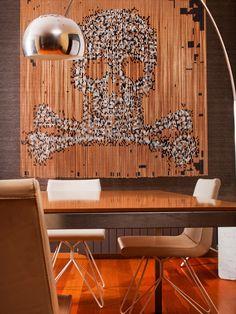 Aluminium chain curtain SKULL & BONES - KriskaDecor