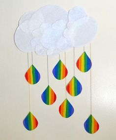 Raindrop Rainbow Kids Craft for St. Patricks day