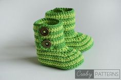 Free pattern! Crochet baby bottles or slippers. #crochet #baby