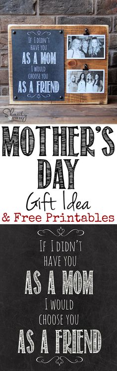 LOVE this Mothers Day Gift and Free Printable!  You can print daughter, aunt, niece and lots more too!