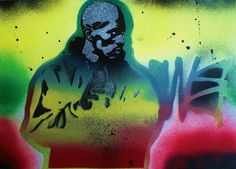 set of 3 paintings of rakim from the group by AbstractGraffitiShop, $30.00