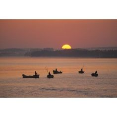 Oyster Fishers Sunrise West River Prince Edward Island Canvas Art - John Sylvester Design Pics (17 x 11)
