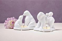 Teelichthalter Eisbären / Porte-bougies Ours polaires