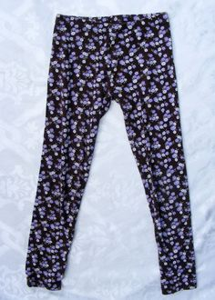 GYMBOREE Printed Leggings, Brown Cotton Floral, Cowgirls at Heart, Size 8 #Gymboree