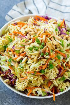 oriental salad with ramen noodles easy - oriental salad with ramen noodles ; oriental salad with ramen noodles easy ; oriental salad with ramen noodles recipe Coleslaw With Ramen Noodles, Top Ramen Noodles, Asian Ramen Noodle Salad, Ramen Noodle Recipes, Roman Noodle Salad, Crunchy Noodle Salad, Ramen Oriental Salad, Oriental Coleslaw, Crunchy Asian Salad